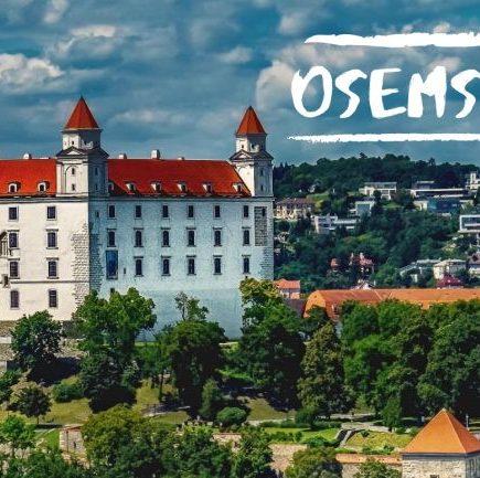 bratislavský hrad, Osemsmerovka -Hlavné mestá Európy