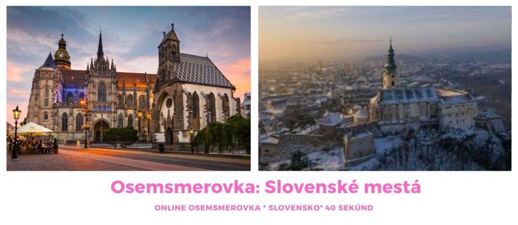 Online osemsmerovka slovenské mesta