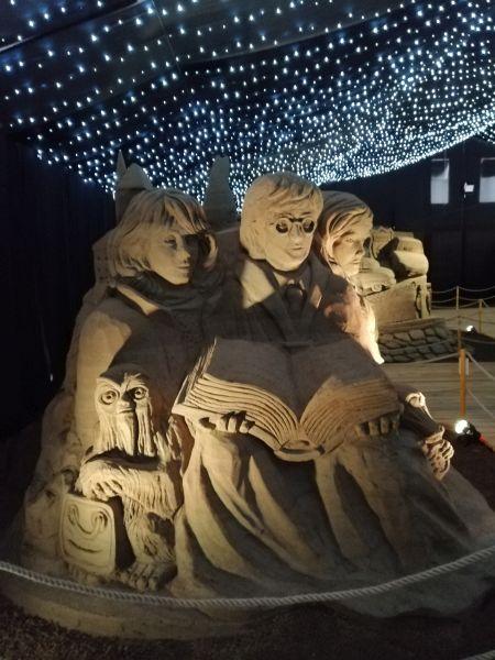 Hrabovo - sochy z piesku Harry Potter
