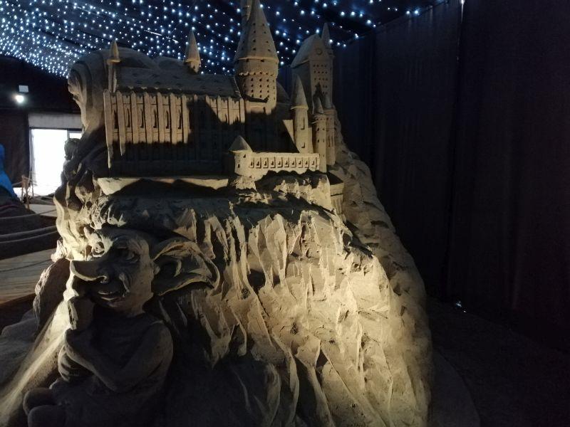 Kráľovstvo Hrabovo - sochy z piesku
