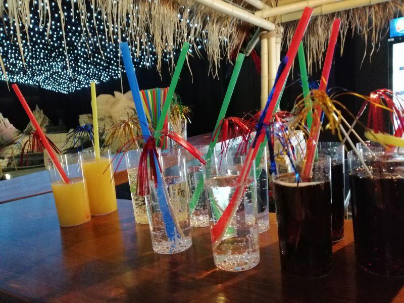 Kráľovstvo Hrabovo - sochy z piesku , drink v bare hawai