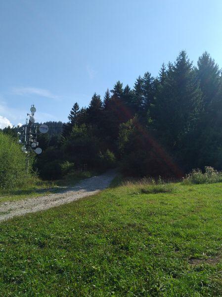 vstup do lesa pri vysielači v Komjatnej