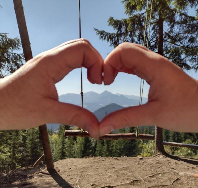 Hojdačka Zázrivá srdce